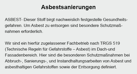Asbestsanierung in  Mosbach