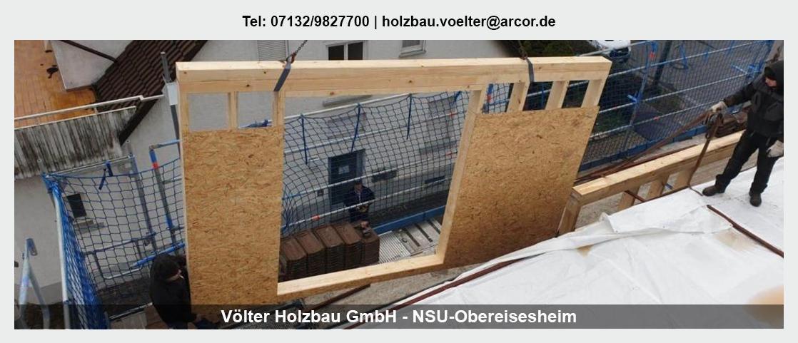 Zimmerei im Raum Flein - Völter Holzbau: Dachsanierung, Mehrzweckhallen, Asbestsanierung