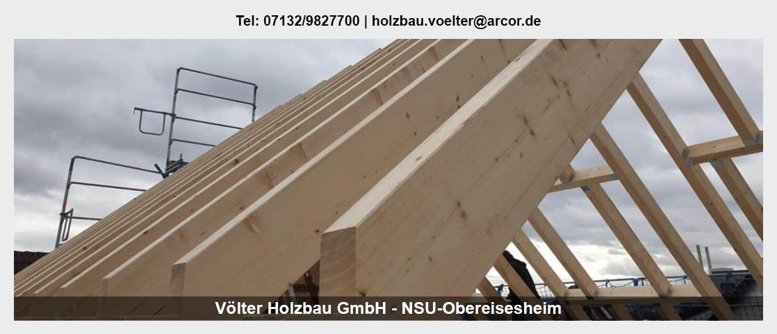 Zimmerei in der Nähe von Zaberfeld - Völter Holzbau: Aufstockungen, Dachflächenfenster, Zimmerarbeiten