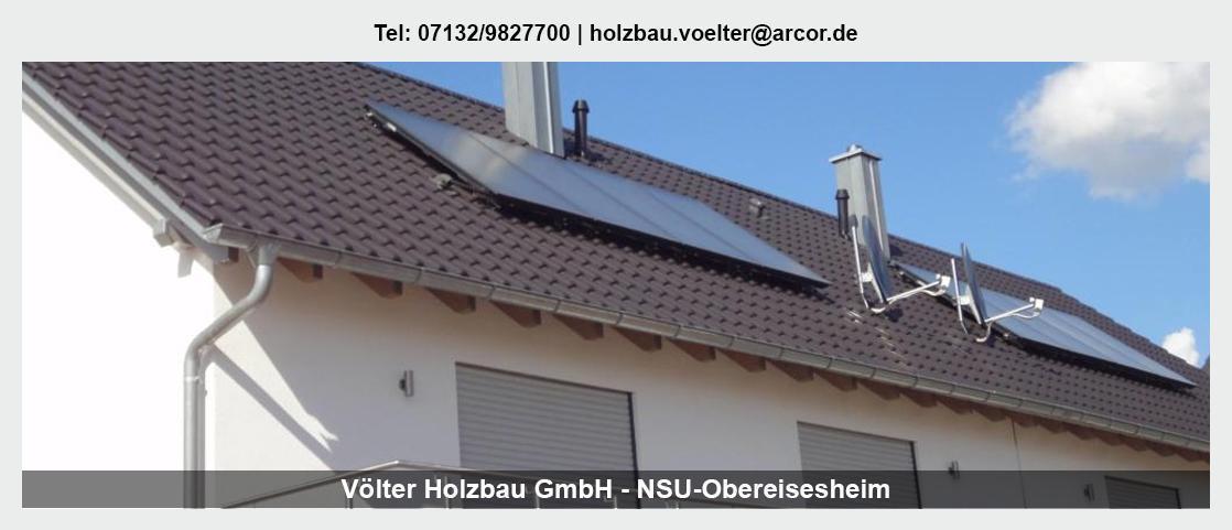 Zimmerei für Heilbronn - Völter Holzbau: Aufstockungen, Carports, Asbestsanierung