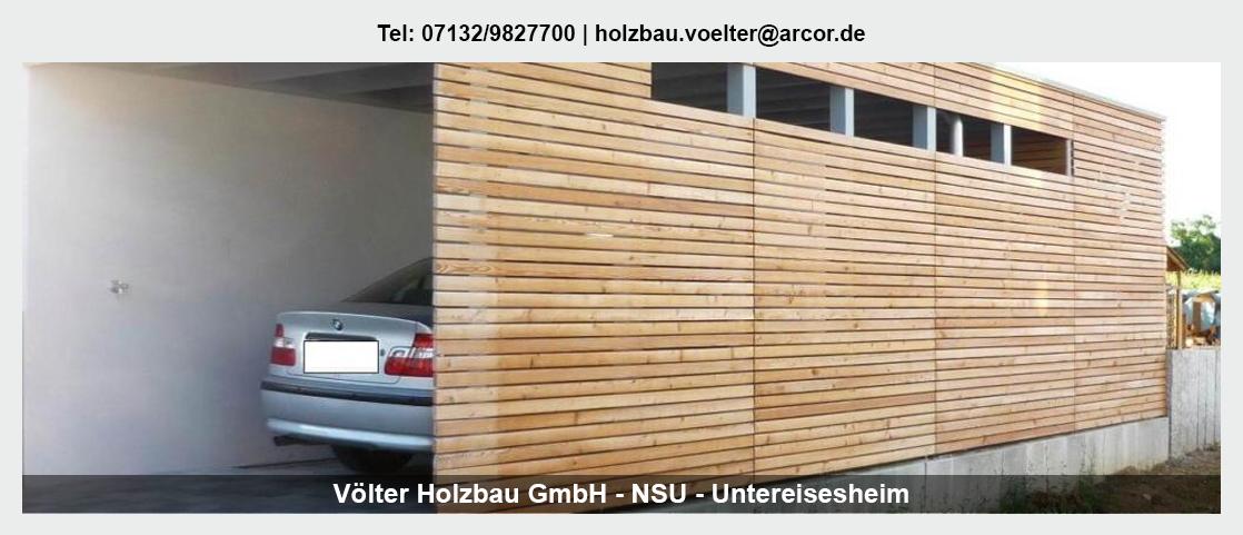 Zimmerei in der Nähe von Erligheim - Völter Holzbau: Aufstockungen, Carports, Asbestsanierung